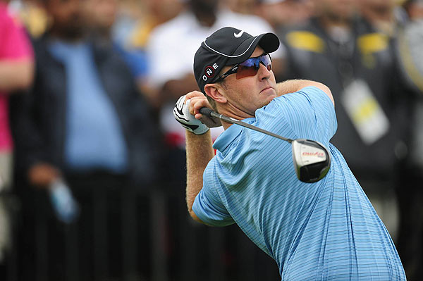 David Duval's third round was up and down with bogeys followed by birdies.