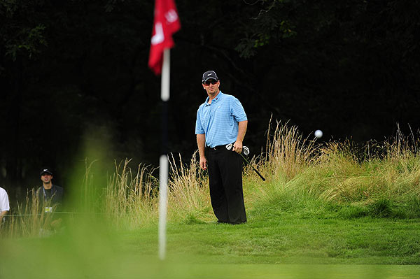 He ended the third round just five strokes off the lead.