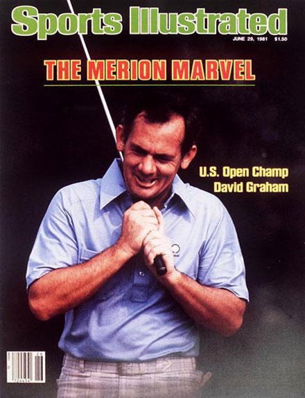 David Graham wins the 1981 U.S. Open at Merion Golf ClubJune 29, 1981