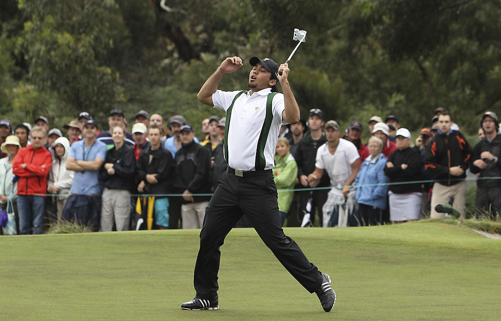 Jason Day: D-                       Record: 1-3-1                       Biggest disappointment of week; couldn't play in wind or out of rough. Wow.