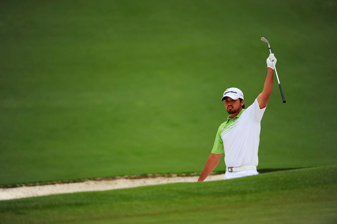 Jason Day birdied No. 1 and then holed out from a greenside bunker for eagle on the par-5 second.
