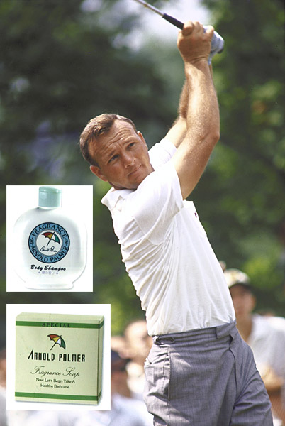 "In ""Arnold Palmer: Memories, Stories and Memorabilia,"" the King admits that he wasn't shy about putting his name on a product. ""Okay, some of the stuff was silly. At one point we had Arnold Palmer soap, an Arnold Palmer floral bouquet from FTD, and even Arnold Palmer Christmas trees. My face and name have appeared on watches, wallets, windows, and wheelchairs. Most of the stuff was interesting and useful but I got talked into a few real doozies."""