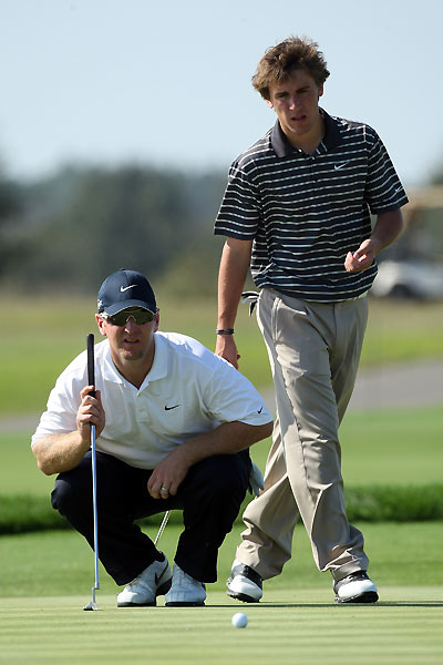 David Duval and his step-son Deano Karavites finished one behind leaders Larry and Josh Nelson.