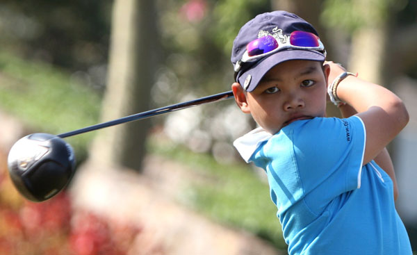 Thailand's 10-year-old Puwit Anupansoebsai recently won category D of the Albatross International Junior Tournament, regularly hitting drives over 230 yards.
