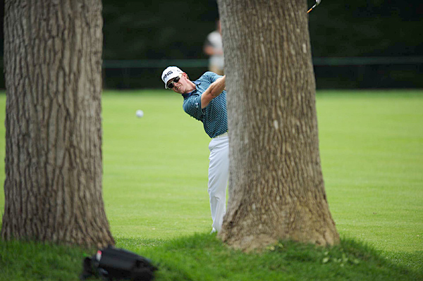 Hunter Mahan during the Memorial Tournament.