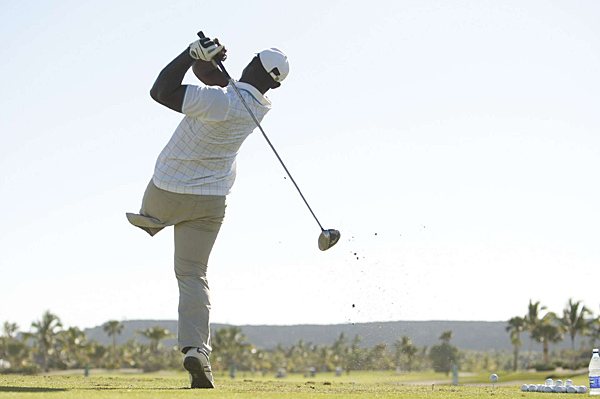 Manuel de los Santos at the Cap Cana Championship. The 25-year-old Dominican, who lives in Paris, lost his left leg in a car accident when he was 18.