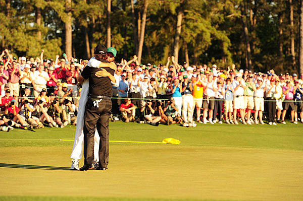 Mickelson dedicated the win to his wife, Amy, who was diagnosed with breast cancer in 2009.