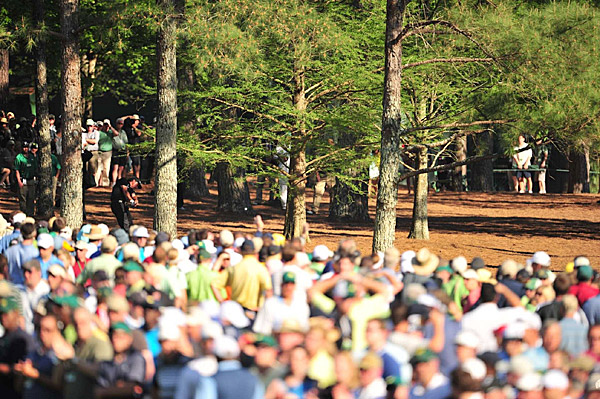 Mickelson hit arguably the shot of the year on the 13th hole of the final round. With his ball sitting between two trees on top of pine straw, he hit a six-iron to three feet.