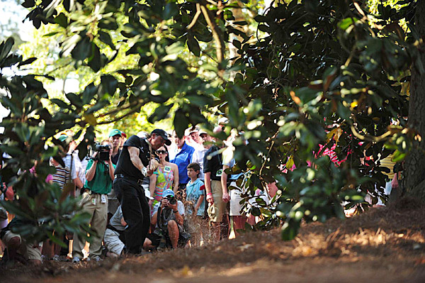 Mickelson on the 10th hole during the final round.