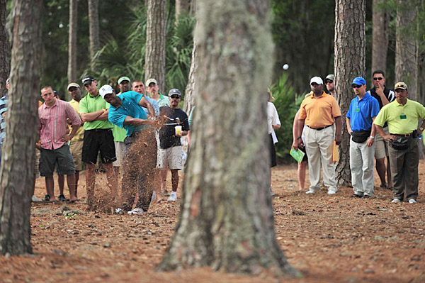 Tiger Woods in action at the Players Championship.