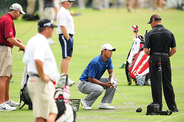 Woods was also spotted working with swing guru Sean Foley on the range during the tournament. This was the first time Woods was seen working with a swing coach after Hank Haney left him in May.