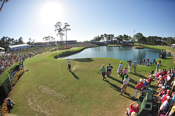Tim Clark at the iconic par-3 17th hole at TPC Sawgrass during the Players.