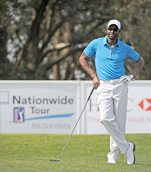 What he really needed was a driving-range finder                       Jerry Rice was DQ'd from a Nationwide Tour event because his caddie used a range finder during the second round of the BMW Charity Pro-Am in Mill Ridge, N.C. However, Rice was not another of 2010's Rules victims. He shot 92 in his first round.