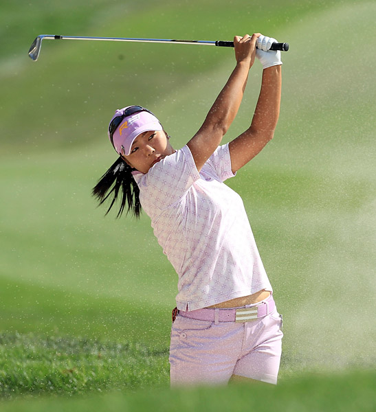 This is going to hurt me more than it hurts me                     Japan's Yuko Mitsuka banned herself from 11 events after storming off the course because of a two-stroke penalty during a Japanese LPGA event.