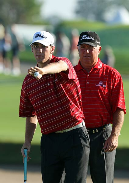 Mark and Shaun O'Meara finished third after a second-round 62.