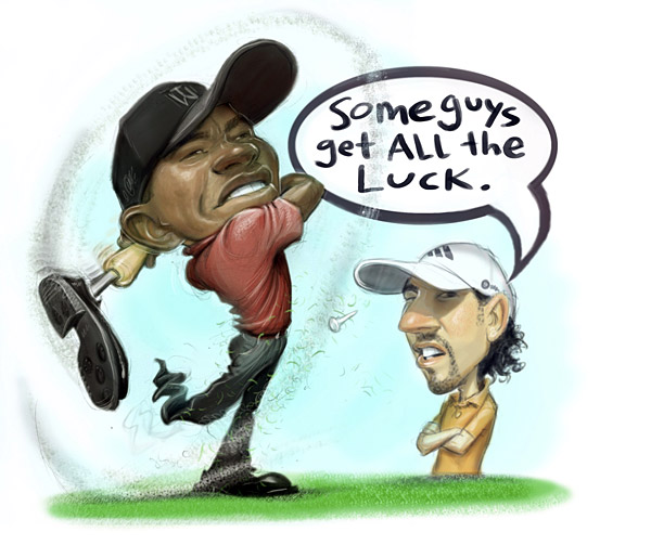 Tiger Woods struggles at the Masters, finishing second after his leg                     falls off. He goes on to win the U.S. Open while                     hopping on one foot.More from GOLF.com                     • 2009 PGA Tour Preview                     • 2008 Year in Review