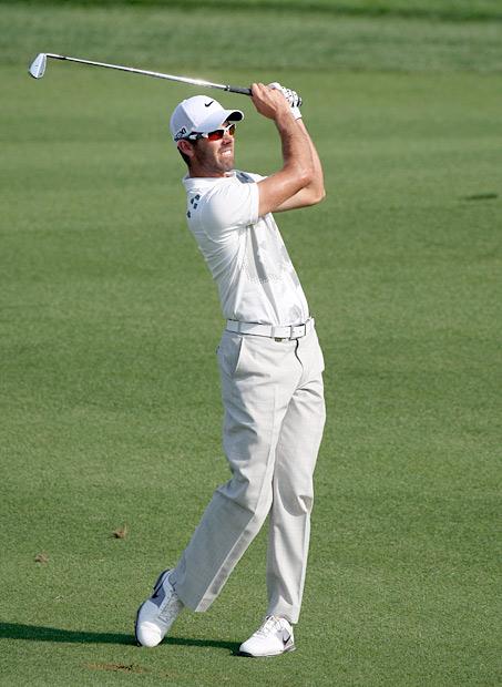 Masters champion Charl Schwartzel shot a solid three-under 69.