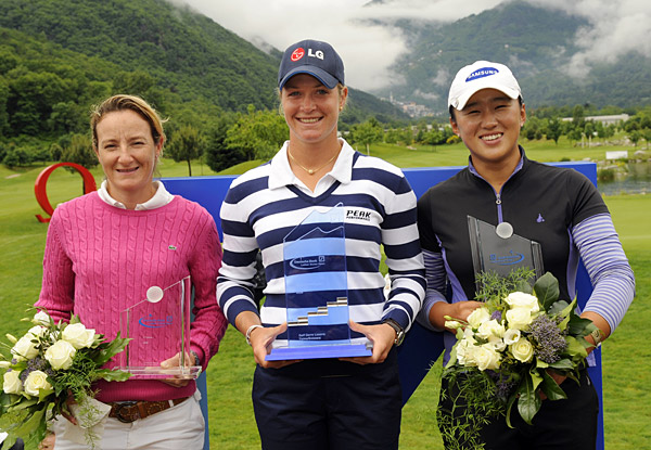 No. 7 Gwladys Nocera                     Ladies European tour                     Nocera (far left) seems to prefer traveling for her trophies — her                     five wins came in Sweden, Scotland, Norway, the                     Netherlands and Spain. Her final victory, at the Madrid Masters, vaulted                     her into first place on the tour's money list with more than 384,000 euros.                     Nocera,                     33, a native of France who lives in Biarritz, had seven other                     top 10 finishes this year and broke Laura Davies's 72-hole scoring record                     when she won the Goteborg (Sweden) Masters with a 29-under 259.