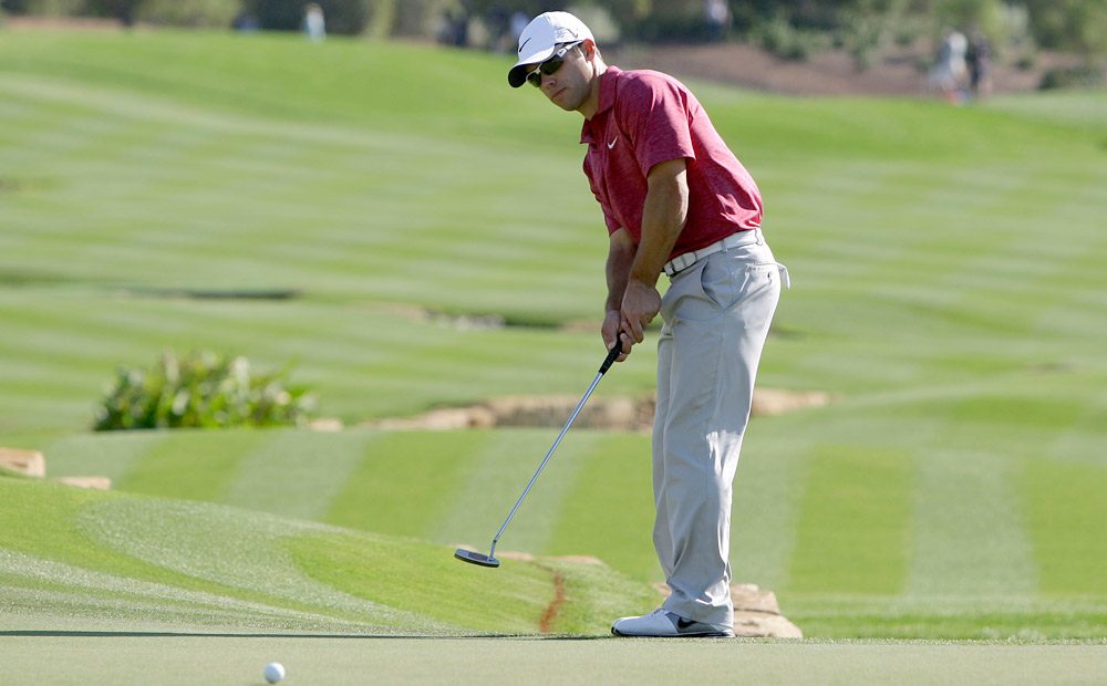 Paul Casey moved into a tie for fifth after going six under on Friday.