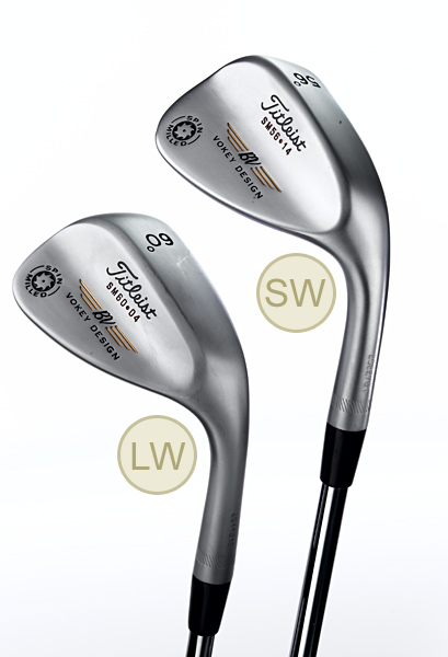 SPOT THE DIFFERENCE                       Several design traits help a LW behave differently than a SW                                              A sand wedge looks a lot like a lob wedge, but as Titleist wedge guru Bob Vokey explains, there's enough of a difference between the two to make one club a better option than the other in a variety of greenside situations.                                              BODY                                              SW The large flange on the sole of a sand wedge gives the club more momentum through heavy sand or grass.                                              LW The less-pronounced flange on the sole of a lob wedge slips more easily under your ball, which gets the ball up quickly on short, delicate shots to tight pin placements.