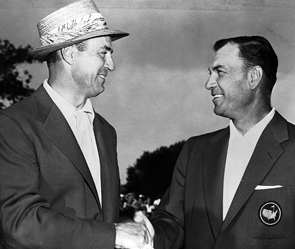 Slammin' Sam had the natural swing, the longevity and the most tour wins in history. Still, it rankled him that Hogan grabbed more glory. In 1950, Snead smoked the Tour with 11 victories, yet Hogan earned Player of the Year honors — with one win. Of course, it happened to be the U.S. Open, and it came after an incredible comeback from a life-threatening car accident, but to Snead it was just one win.Sam Snead vs. Ben Hogan                       Slammin' Sam had the natural swing, the longevity and the most tour wins in history. Still, it rankled him that Hogan grabbed more glory. In 1950, Snead smoked the Tour with 11 victories, yet Hogan earned Player of the Year honors — with one win. Of course, it happened to be the U.S. Open, and it came after an incredible comeback from a life-threatening car accident, but to Snead it was just one win.
