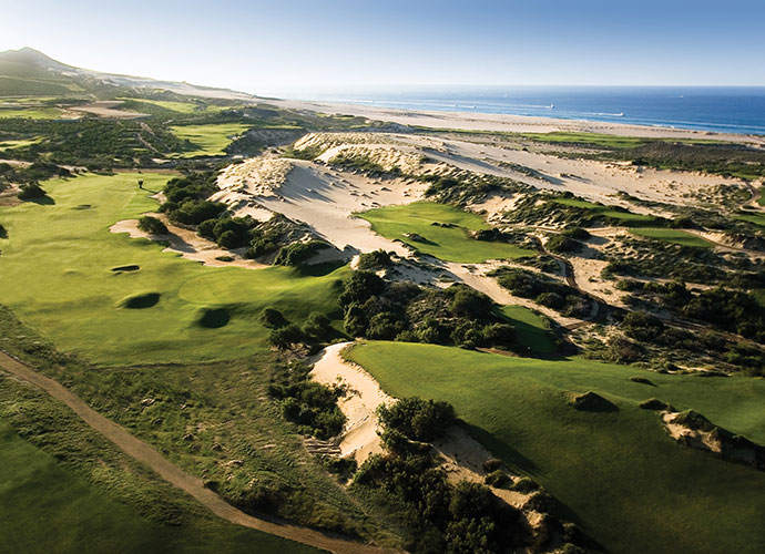 Diamante (Dunes), Cabo San Lucas                                 Davis Love's greatest design is also Mexico's top-ranked course and the 52nd-ranked layout in the World. Gigantic dunes cocoon half the holes, while others enjoy Pacific Ocean panoramas. Memorable holes spice the play, notably those which feature approach shots that must scale massive dune ridges.