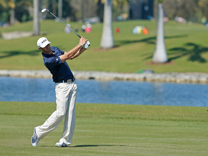 Dustin Johnson made five birdies and two bogeys for a three-under 69.