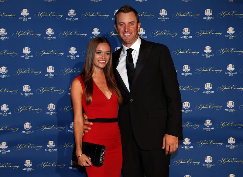 Dustin Johnson and his girlfriend, Amanda Cauder.