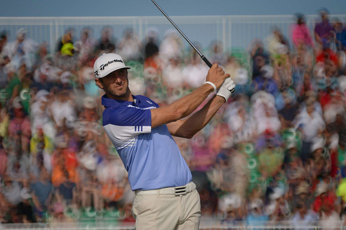 Dustin Johnson struggled to a five-over 76.