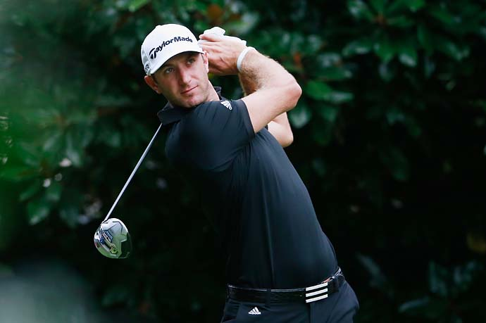 The PGA Tour's bad weather specialist Dustin Johnson shot 67 on Saturday.