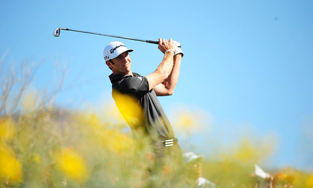 Dustin Johnson dominated in his match against Francesco Molinari, winning 7 and 5.