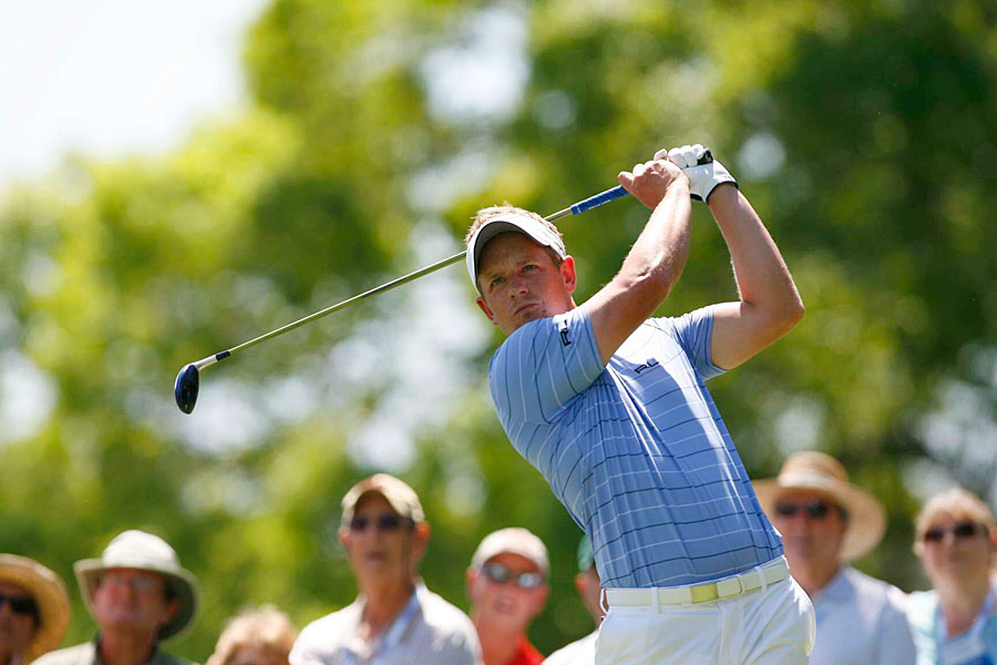 Luke Donald made an eagle, three birdies and four bogeys.