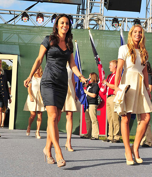 Luke Donald's wife, Diane, and Keegan Bradley's girlfriend, Jillian Stacey.