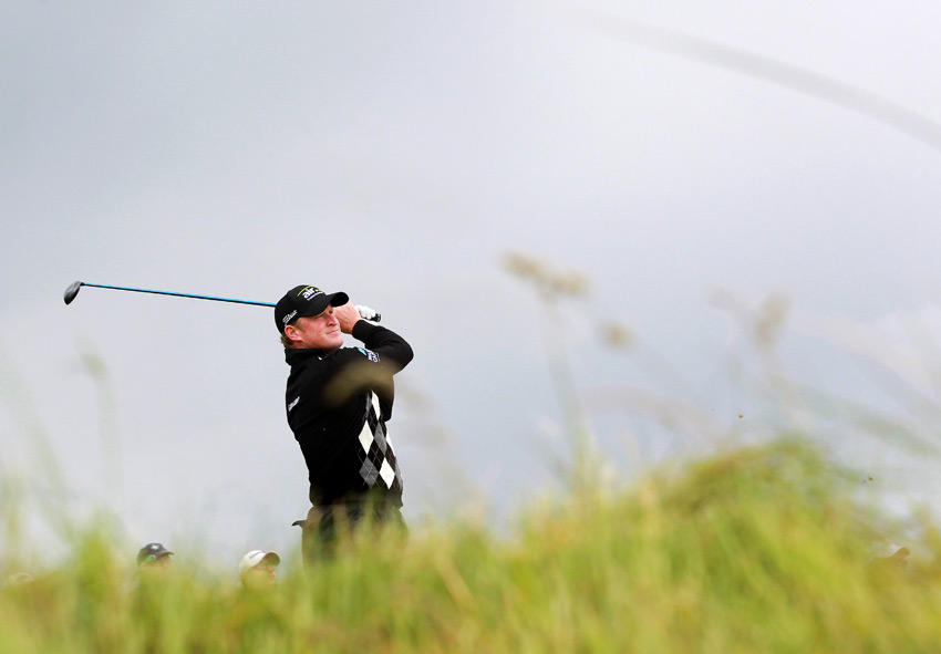 Jamie Donaldson shot a three-under 69 to grab a one-shot lead.