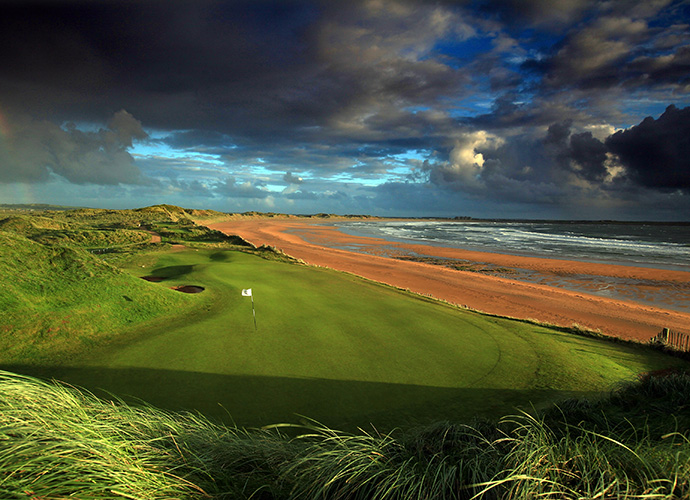 Trump International Golf Links Ireland, Doonbeg, Co. Clare: New owner Donald Trump has grand plans for this course, but he's got an awfully strong foundation from which to start. Greg Norman sculpted Doonbeg from massive sandhills at the ocean's edge. The par-4 6th, high above the beach and the tiny par-3 14th that practically melts into the Atlantic are highlights. ($83-$242; 011 353 65 905 5600, doonbeglodge.com)