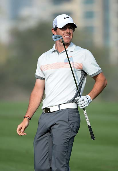 Rory McIlroy during the second round of the Omega Dubai Desert Classic.