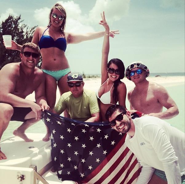 Happy 4th. #weliketoparty #boats&hoes #bigred #bahamas #usa @jakeanderson88 @slsteph @danamx2