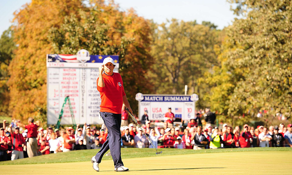 Jason Dufner held on to beat Peter Hanson, 2 up.