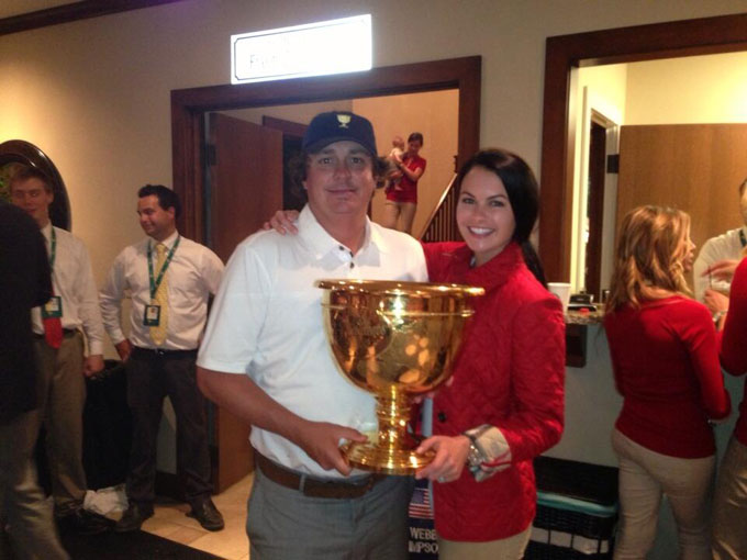 @JasonDufner: Good times at 2013 Presidents Cup, with my wife Amanda