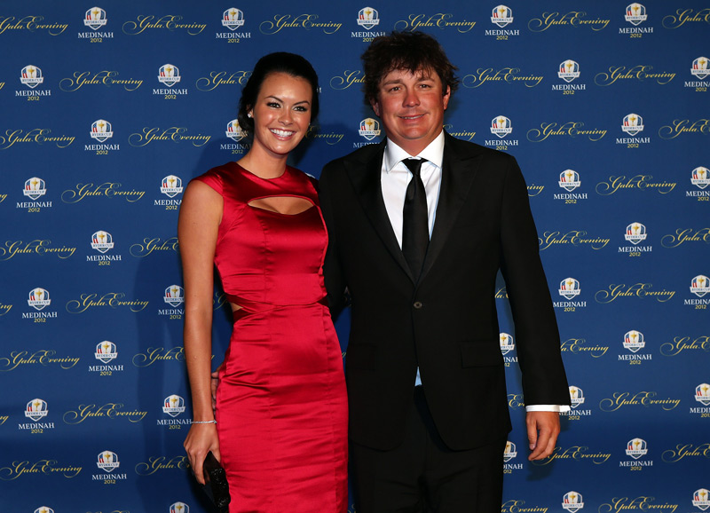 Jason Dufner and his wife, Amanda.