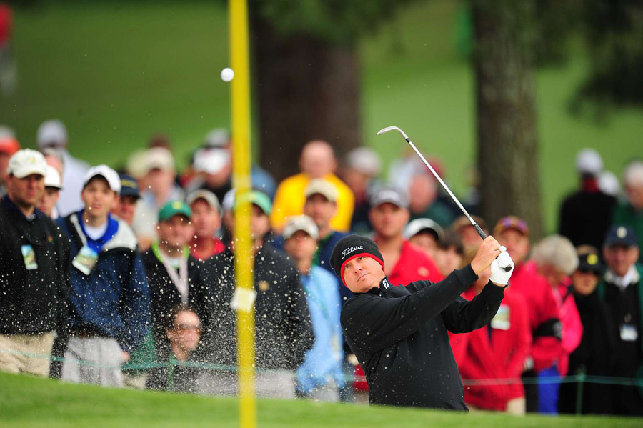 Despite a double bogey on No. 4, Jason Dufner shot a two-under 70 for a share of the lead.