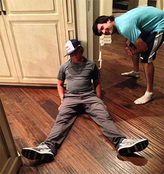 "Then Rickie Fowler got in on the game with a cameo from Bubba Watson: ""Hey @Keegan_Bradley I'm just hanging out #Dufnering with @bubbawatson"""