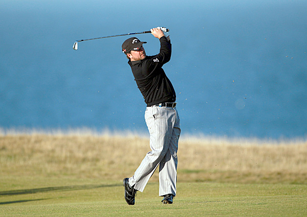 Ryder Cup hero Graeme McDowell also shot a two-under 70.