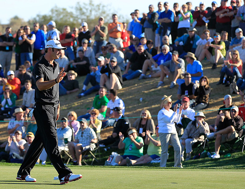 Dustin Johnson made four birdies and three bogeys for a 70.