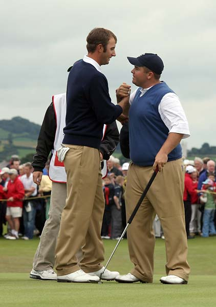 Dustin Johnson and Colt Knost at the 2007 Walker Cup.