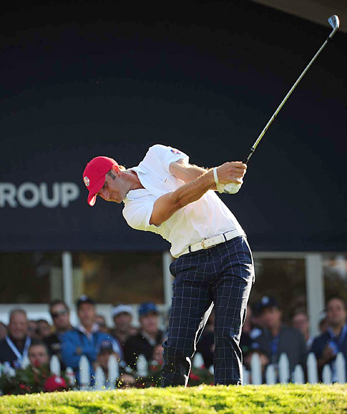 Dustin Johnson and Matt Kuchar earned a 3-and-2 victory over Justin Rose and Martin Kaymer.