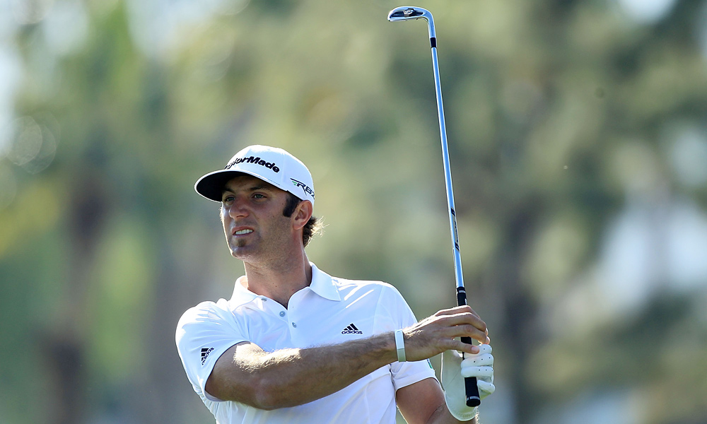 Dustin Johnson made double bogey at 17 to finish at even par.