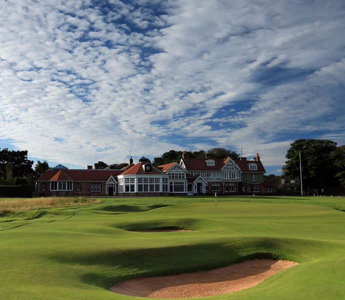 "Harris English: ""I really loved playing Muirfield last year at the British Open, perhaps because my expectations weren't that high. With links golf, you can hit good shots and get bad bounces. But not so much at Muirfield -- there's a premium on ball striking.""                                          Pictured: The par-4 18th hole and clubhouse at Muirfield."