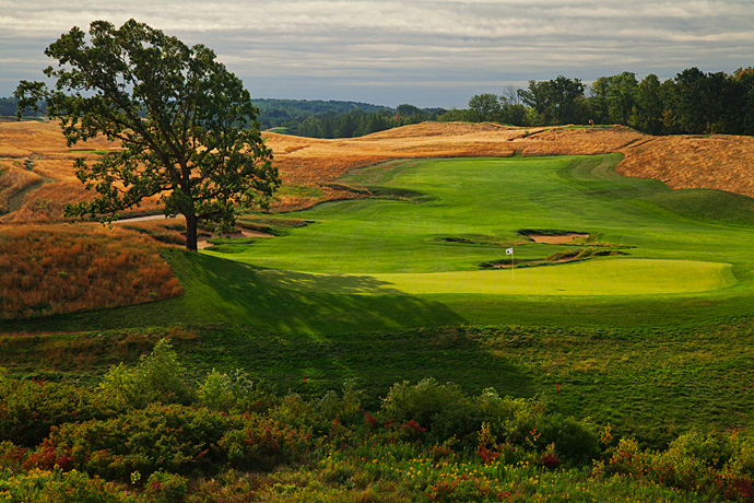 Erin Hills, No. 96 U.S.                   Hard courses still have their place in the Top 100, provided that they're rich in character and variety. Erin Hills has plenty of both — and, yes, it's plenty tough as well. Erin Hills was the controversial choice to host the 2017 U.S. Open before it had fully established itself. Yet it has proved a worthy site for both the 2008 U.S. Women's Public Links and the 2011 U.S. Amateur.