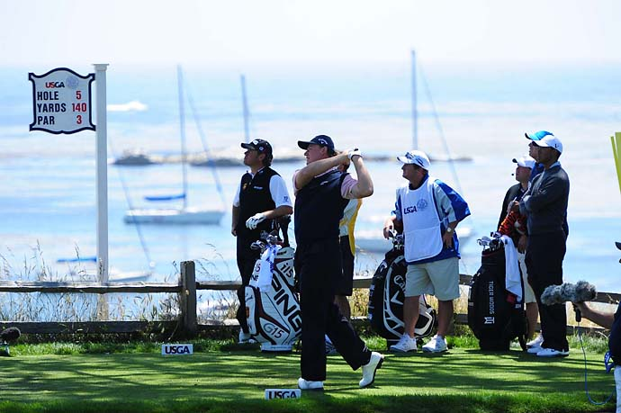 Ernie Els at the 2010 U.S. Open at Pebble Beach.
